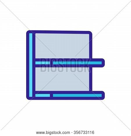 Showcase Shelf Icon Vector. Showcase Shelf Sign. Color Isolated Symbol Illustration