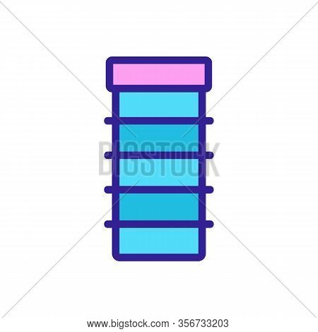 Convenient Shelf Icon Vector. Convenient Shelf Sign. Color Isolated Symbol Illustration
