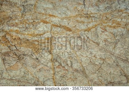 Rough Clay Rock And Dirt Under Ground Texture, Earth Brown Dry Mud Pattern Background