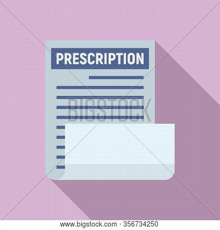 Medical Prescription Icon. Flat Illustration Of Medical Prescription Vector Icon For Web Design