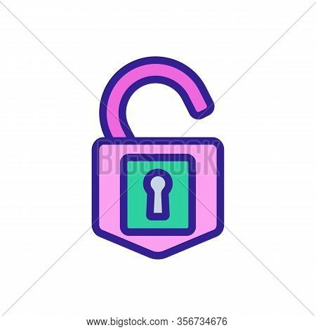 Cipher Lock Icon Vector. Cipher Lock Sign. Color Isolated Symbol Illustration