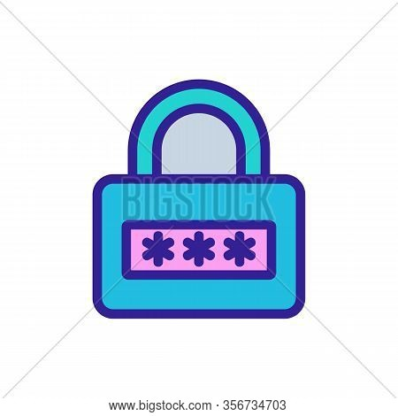 Cipher Closed Icon Vector. Cipher Closed Sign. Color Isolated Symbol Illustration