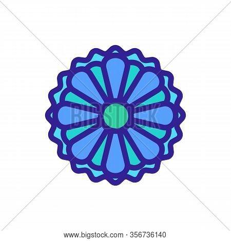 Summer Chrysanthemum Icon Vector. Summer Chrysanthemum Sign. Color Isolated Symbol Illustration