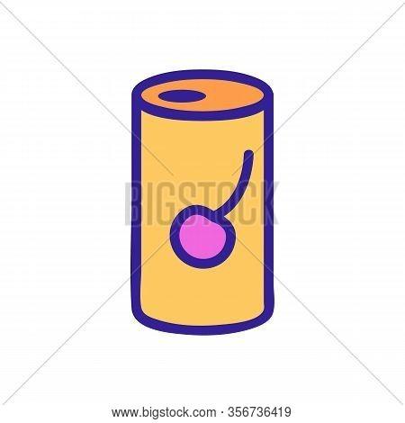 Cherry Soda Icon Vector. Cherry Soda Sign. Color Isolated Symbol Illustration