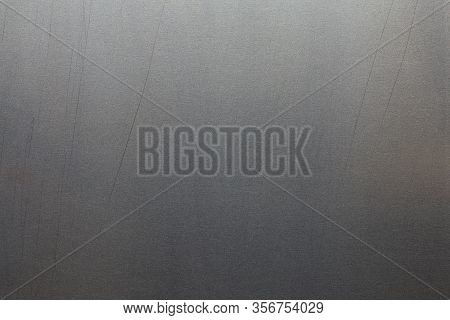 Uncoated Flat Cold Rolled Steel Sheet Surface With Minor Long Scratches. Close-up In Directly Above