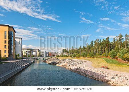 New Area Of ??helsinki, Finland.