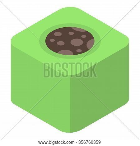 Green Turkish Sweet Icon. Isometric Of Green Turkish Sweet Vector Icon For Web Design Isolated On Wh