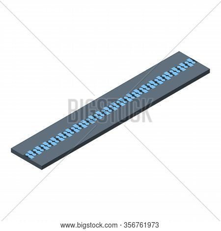 Zipper Icon. Isometric Of Zipper Vector Icon For Web Design Isolated On White Background