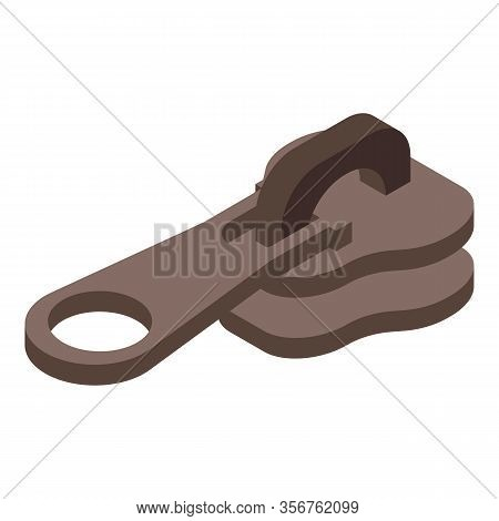Zipper Pull Tab Icon. Isometric Of Zipper Pull Tab Vector Icon For Web Design Isolated On White Back