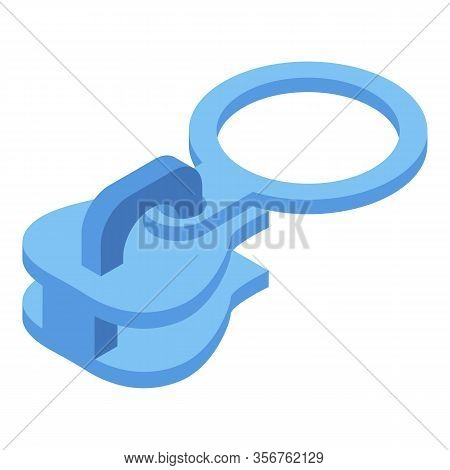 Zipper Tab Icon. Isometric Of Zipper Tab Vector Icon For Web Design Isolated On White Background