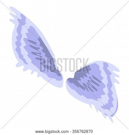 Heraldic Wings Icon. Isometric Of Heraldic Wings Vector Icon For Web Design Isolated On White Backgr