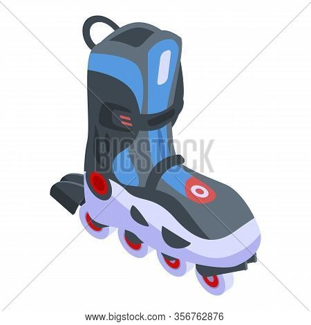 Inline Skates Icon. Isometric Of Inline Skates Vector Icon For Web Design Isolated On White Backgrou