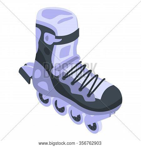 Activity Inline Skates Icon. Isometric Of Activity Inline Skates Vector Icon For Web Design Isolated