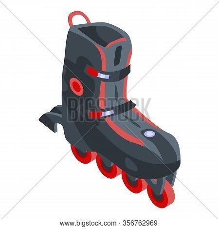 Extreme Inline Skates Icon. Isometric Of Extreme Inline Skates Vector Icon For Web Design Isolated O
