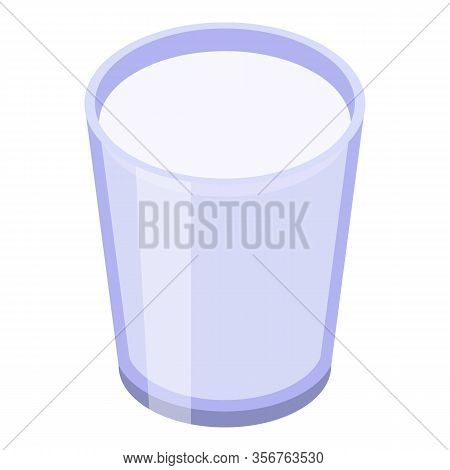 Glass Juice Longan Icon. Isometric Of Glass Juice Longan Vector Icon For Web Design Isolated On Whit