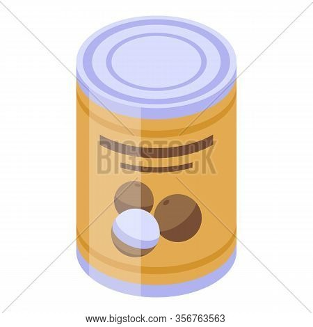 Longan Tin Can Icon. Isometric Of Longan Tin Can Vector Icon For Web Design Isolated On White Backgr