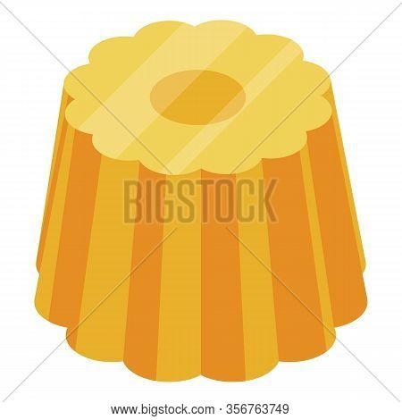 Apricot Jelly Icon. Isometric Of Apricot Jelly Vector Icon For Web Design Isolated On White Backgrou