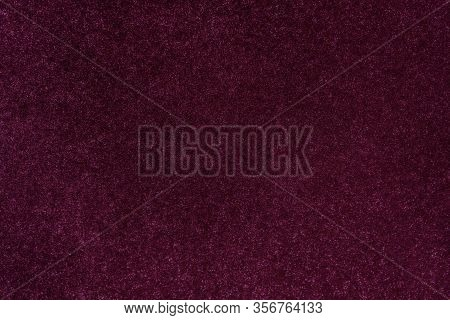 Dark Magenta Glitter Twinkle Abstract New Year Or Christmas Holiday Background With Sparkles. Modern