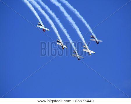 The Great Britain Aerobatic Display Team The Yakovlevs