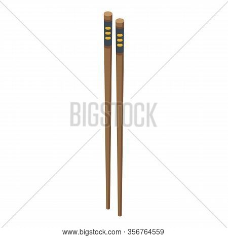 Chopsticks Icon. Isometric Of Chopsticks Vector Icon For Web Design Isolated On White Background