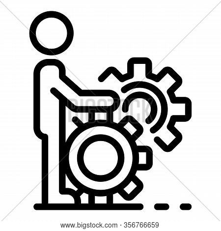 Efficient Gear System Skill Icon. Outline Efficient Gear System Skill Vector Icon For Web Design Iso