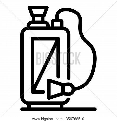 Gasoline Sprayer Icon. Outline Gasoline Sprayer Vector Icon For Web Design Isolated On White Backgro