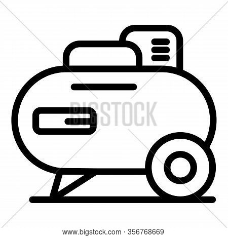 Car Gasoline Compressor Icon. Outline Car Gasoline Compressor Vector Icon For Web Design Isolated On