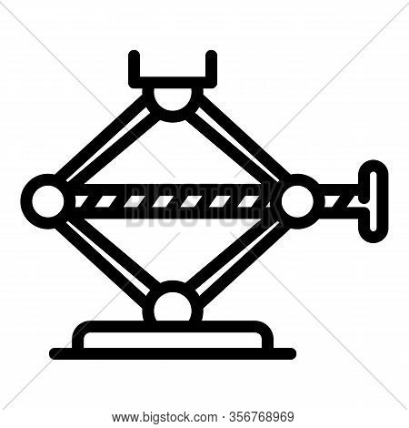 Jack Screw Maintenance Icon. Outline Jack Screw Maintenance Vector Icon For Web Design Isolated On W