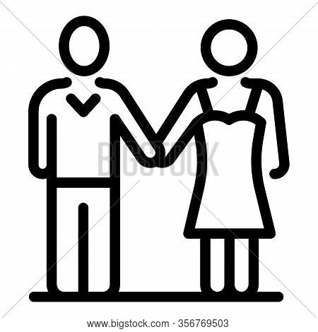 Wedding Ceremony Icon. Outline Wedding Ceremony Vector Icon For Web Design Isolated On White Backgro