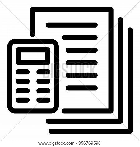 Tiler Papers Icon. Outline Tiler Papers Vector Icon For Web Design Isolated On White Background