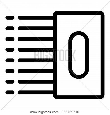 Tiler Tool Icon. Outline Tiler Tool Vector Icon For Web Design Isolated On White Background