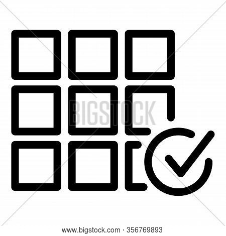 Tiler Work Done Icon. Outline Tiler Work Done Vector Icon For Web Design Isolated On White Backgroun