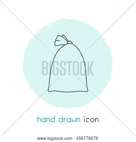 Sack Icon Line Element. Vector Illustration Of Sack Icon Line Isolated On Clean Background For Your