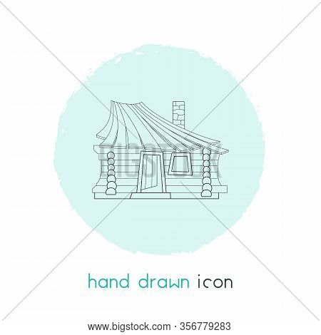 Small Hut Icon Line Element. Vector Illustration Of Small Hut Icon Line Isolated On Clean Background