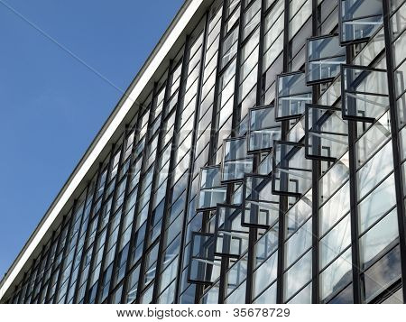 Modern architecture in Dessau Germany (south of Berlin) poster