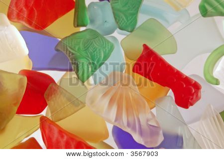 Colorful Textured Glass Pieces