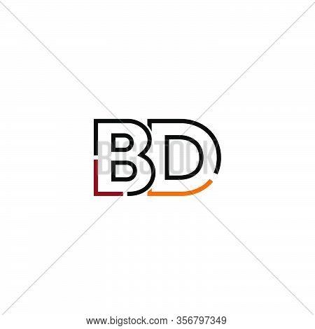 Letter Bd Logo Icon Design Template Elements