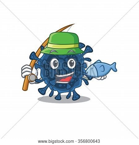 A Picture Of Funny Fishing Decacovirus Design