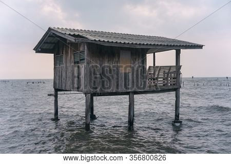 The Fisherman Old Huts On The Sea