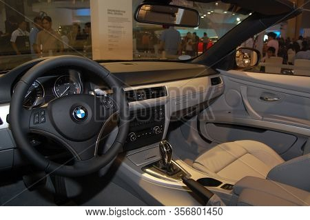 Pasay, Ph - Aug. 19: Bmw 335i Cabrio Dashboard At 3rd Philippine International Motor Show On August