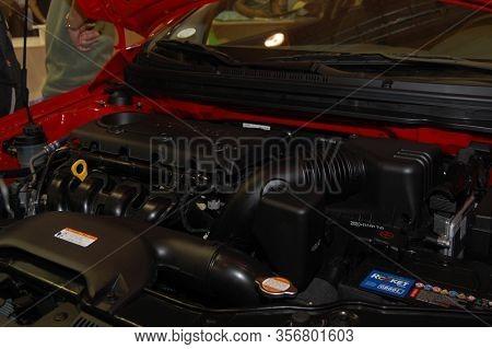 Pasay, Ph - Aug. 19: Kia Koup Engine At 3rd Philippine International Motor Show On August 19, 2010 I