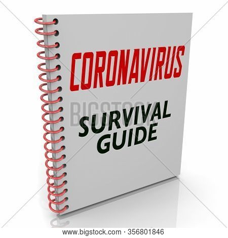 Coronavirus Survival Guide Book Help Advice COVID-19 Outbreak Pandemic 3d Illustration