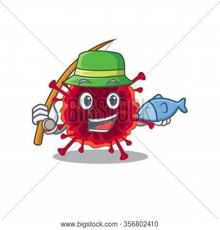 A Picture Of Funny Fishing Pedacovirus Design