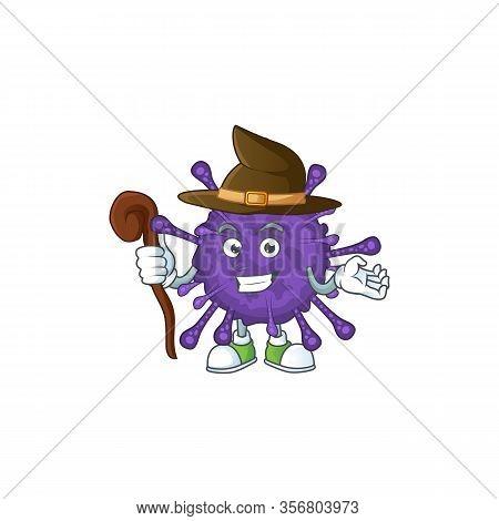 Sweet And Tricky Witch Coronavirinae Cartoon Character