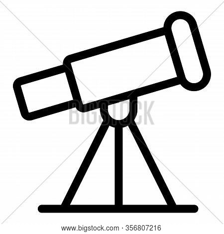 Space Telescope Icon. Outline Space Telescope Vector Icon For Web Design Isolated On White Backgroun