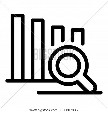 Graph Chart Exploration Icon. Outline Graph Chart Exploration Vector Icon For Web Design Isolated On