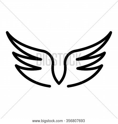 Heraldic Wings Icon. Outline Heraldic Wings Vector Icon For Web Design Isolated On White Background