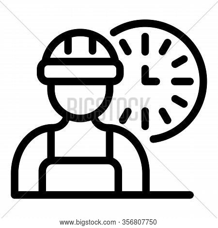 Fast Time Repairman Icon. Outline Fast Time Repairman Vector Icon For Web Design Isolated On White B