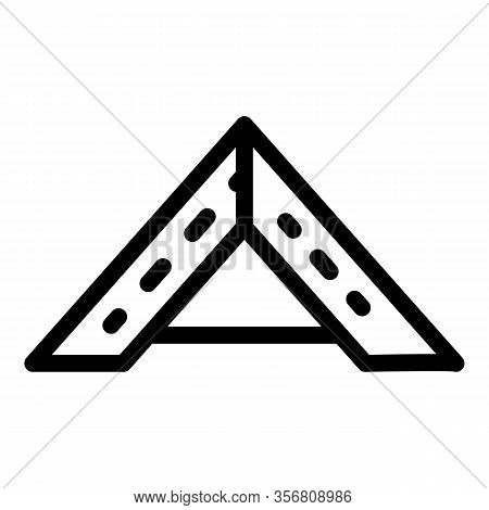 Wooden Roof Arch Icon. Outline Wooden Roof Arch Vector Icon For Web Design Isolated On White Backgro