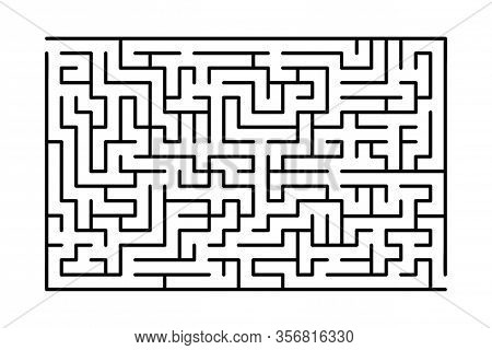 Abstract Maze / Labyrinth With Entry And Exit. Vector Labyrinth 283.